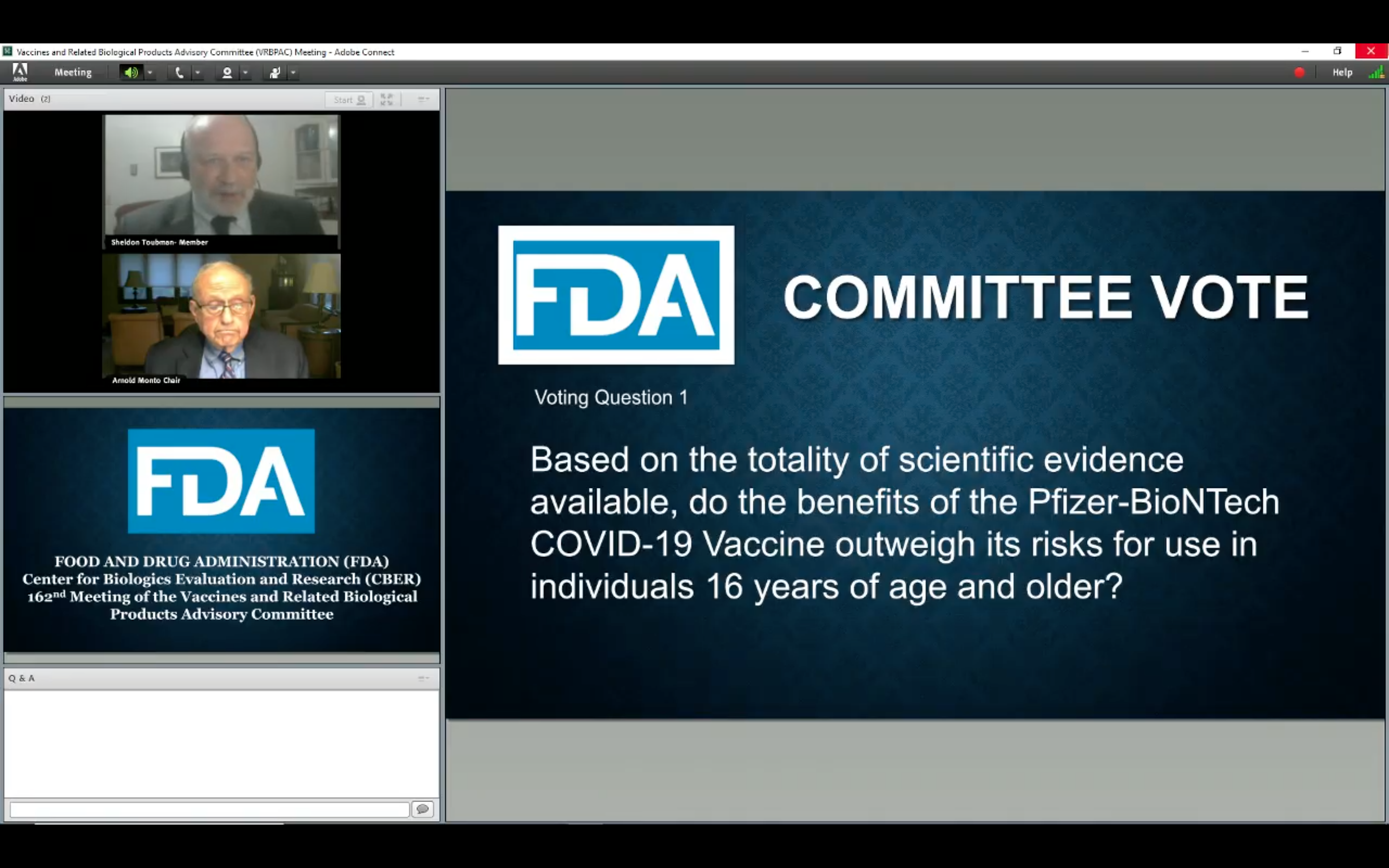 Fda Panel Recommends Emergency Approval Of Pfizer S Covid 19 Vaccine Deadline