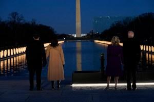 Joe Biden Pays Tribute To Covid-19 Victims In Lincoln Memorial Ceremony