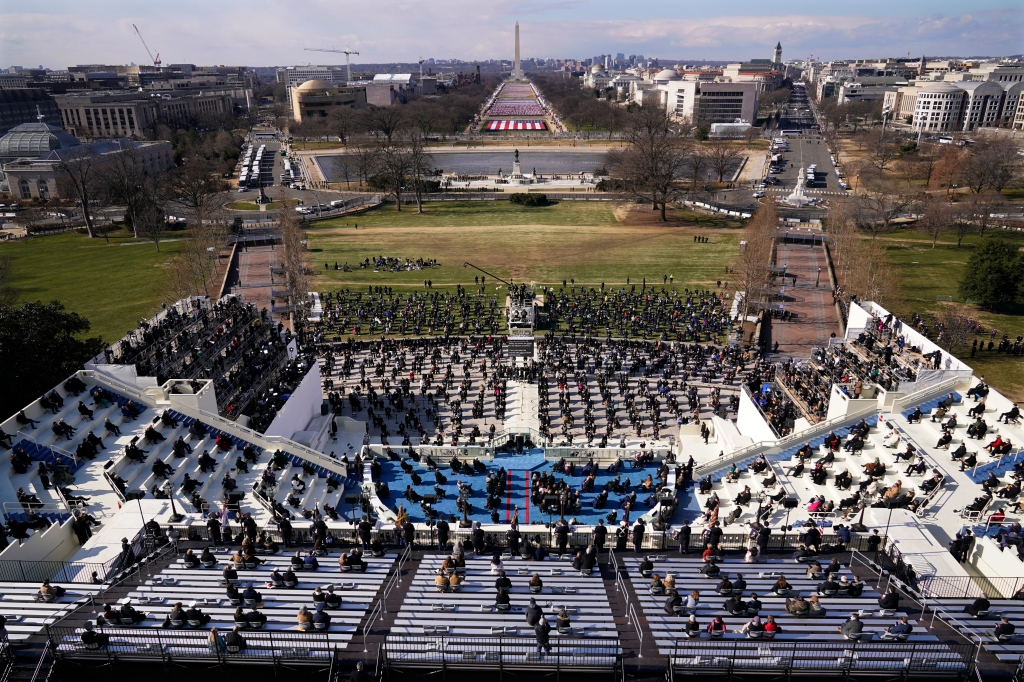 At Joe Biden's Inauguration: A Serene Scene Amid A Militarized Zone