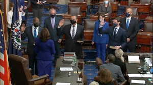 Democrats Take Control Of Senate As Kamala Harris Swears In Alex Padilla, Raphael Warnock And Jon Ossoff
