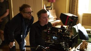 Director Florian Zeller and DP Ben Smithard behind the scenes of 'The Father'