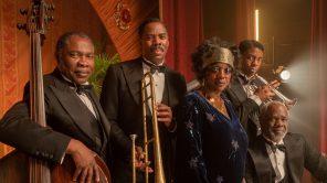 Michael Potts, Colman Domingo, Viola Davis, Chadwick Boseman and Glynn Turman in 'Ma Rainey's Black Bottom'
