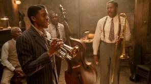 Glynn Turman, Chadwick Boseman, Michael Potts and Colman Domingo in 'Ma Rainey's Black Bottom'