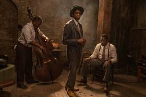 Michael Potts, Chadwick Boseman and Colman Domingo in 'Ma Rainey's Black Bottom'