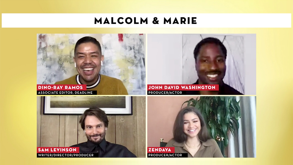 'Malcolm & Marie's Zendaya, John David Washington & Sam Levinson Talk Creative Challenges And Pandemic Production – Contenders Film