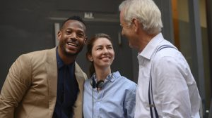 Marlon Wayans, Sofia Coppola and Bill Murray behind the scenes of 'On the Rocks'