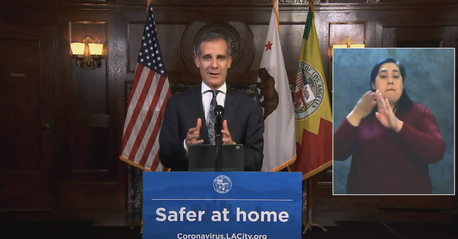L.A. County Is Looking At Further Closures If Covid-19 Numbers Surge Again, Says Mayor Eric Garcetti