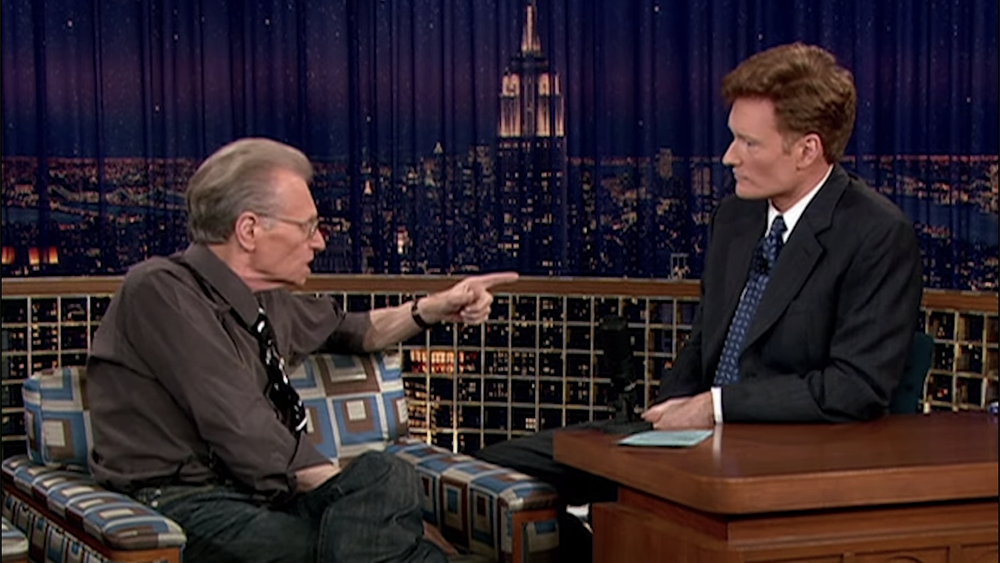 Conan O'Brien Celebrates Larry King's Humorous Side, Costumes And All