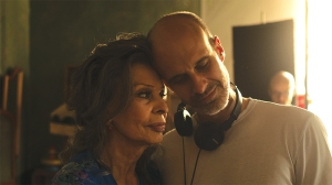 Sophia Loren and director Edoardo Ponti on the set of 'The Life Ahead'