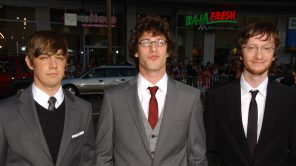 Jorma Taccone with Andy Samberg and Akiva Schaffer at the Los Angeles Premiere of 'Hot Rod'
