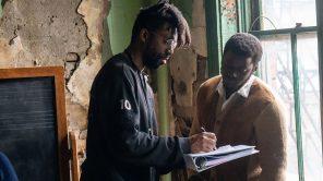 Daniel Kaluuya and director Shaka King on the set of 'Judas and the Black Messiah'