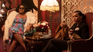 Da'Vine Joy Randolph and Andra Day in Andra Day in 'The United States vs. Billie Holiday'