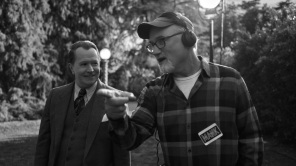 Gary Oldman and David Fincher on the set of 'Mank'