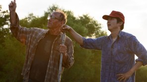 Will Patton and Steven Yeun in 'Minari'