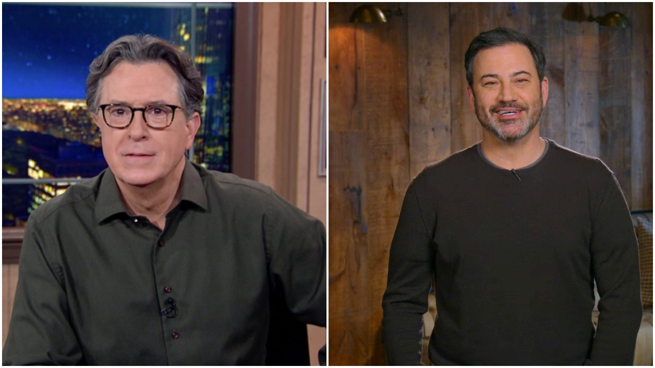Stephen Colbert & Jimmy Kimmel In Positive Spirits As Inauguration Lifts Late-Night Trump Doom