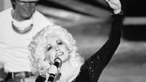 """Dolly Parton performs song """"Nine to Five"""" from movie of the same name, during 53rd Annual Academy Awards"""