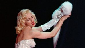 """Madonna performs """"Sooner or Later (I Always Get My Man)"""" from the film 'Dick Tracy' during the 63rd Annual Academy Awards"""