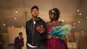 Director George C. Wolfe and Viola Davis on the set of 'Ma Rainey's Black Bottom'