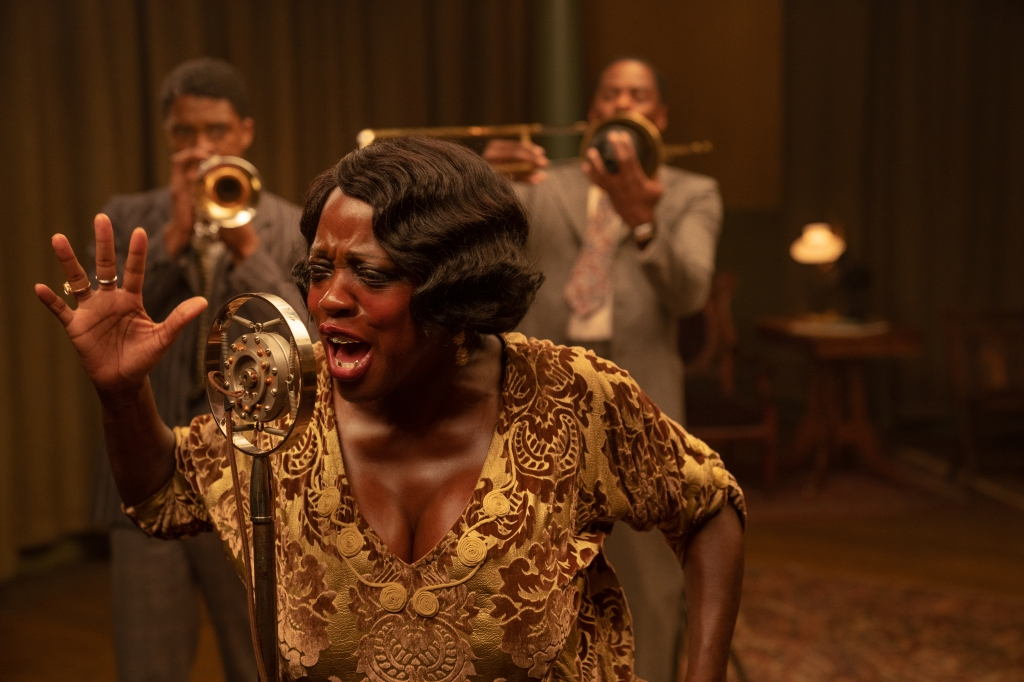 Chadwick Boseman, Viola Davis and Colman Domingo in 'Ma Rainey's Black Bottom'