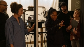 DP Tami Reiker and director Regina King on set of 'One Night in Miami'
