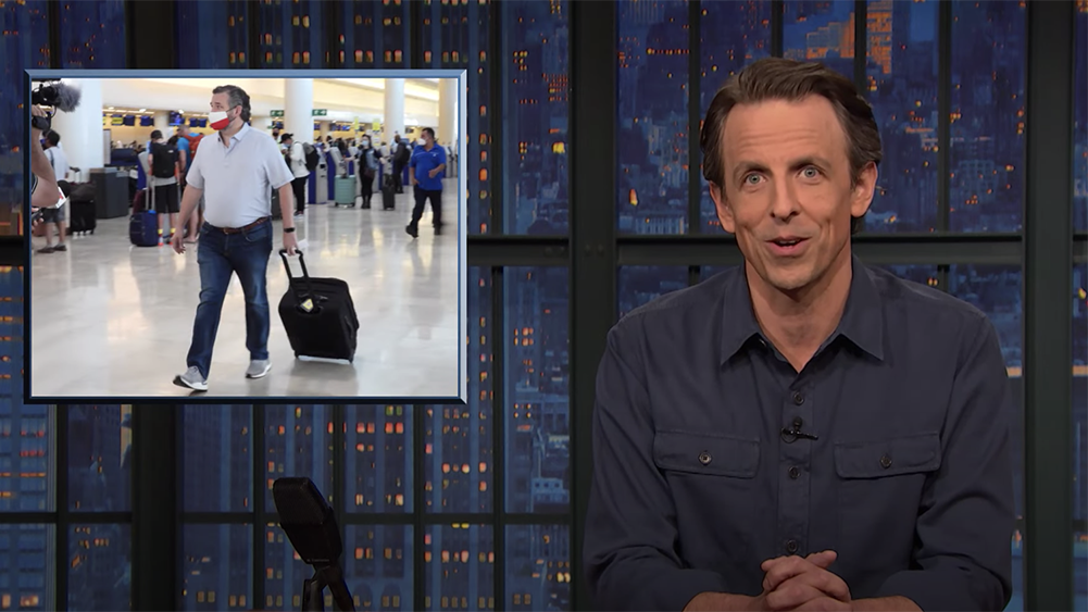 Seth Meyers, Trevor Noah & More Dunk On Ted Cruz For Absence During Texas Winter Storm.jpg