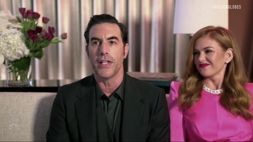 "Sacha Baron Cohen Thanks ""All-White"" HFPA, Torches Rudy Giuliani In 'Borat Subsequent Moviefilm' Best Comedy Golden Globe Speech - Deadline"