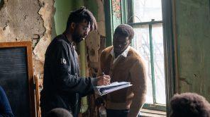 Director Shaka King and Daniel Kaluuya on set of 'Judas and the Black Messiah'