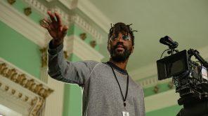 Director Shaka King on set of 'Judas and the Black Messiah'