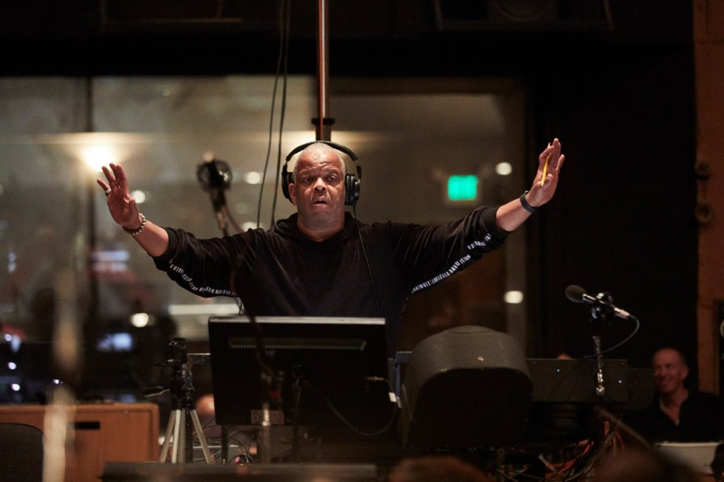 Terence Blanchard on the scoring stage for 'Da 5 Bloods'