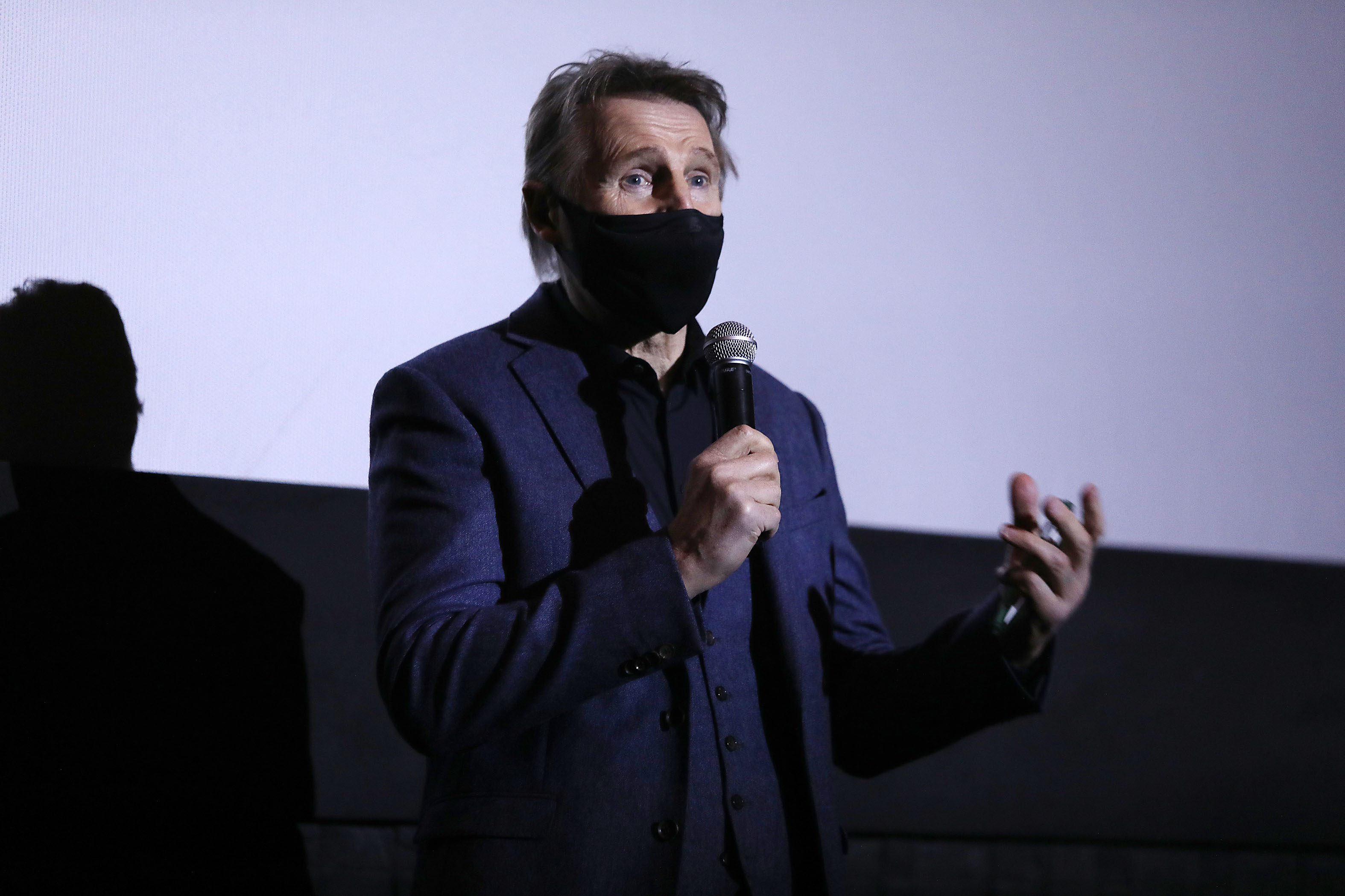 Liam Neeson Thanks Fans Of 'The Marksman' At Appearance For NY Theatrical Release