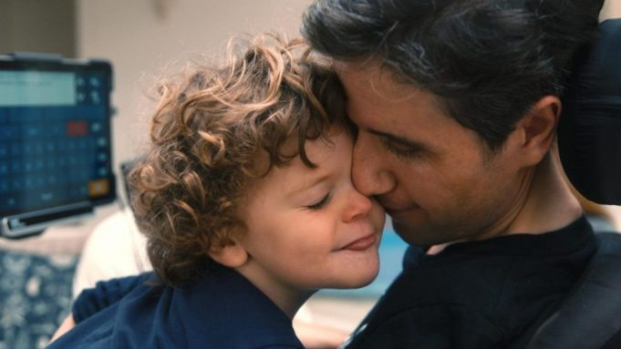Ady Barkan and son in 'Not