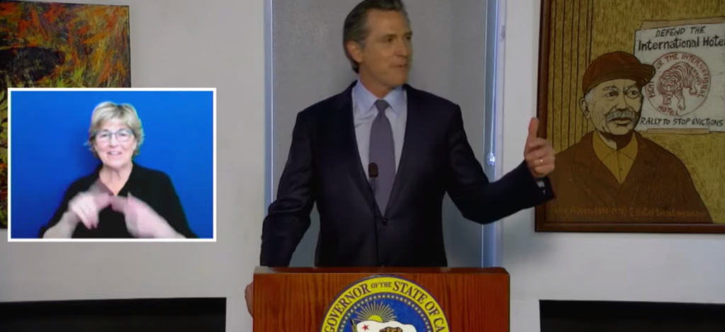 Gavin Newsom's Big Announcement Of New State Attorney General Cut Off After Technical Difficulties