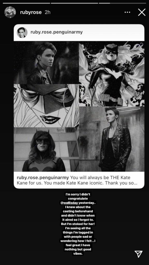 La respuesta de Ruby Rose a la reescritura de Batwoman