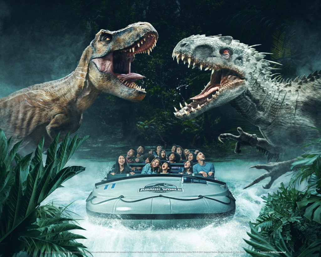 "Universal Studios Hollywood Is Back, With Big Dinosaurs; ""We're The One In California Now Open!"".jpg"