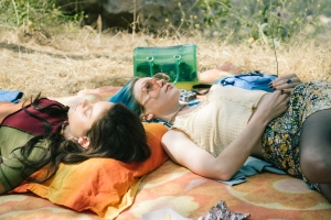 Odeya Rush and Jessica Barden in 'Pink Skies Ahead'