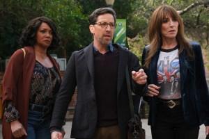 Tamala Jones, Dan Bucatinsky, and Katey Sagal in 'Rebel'