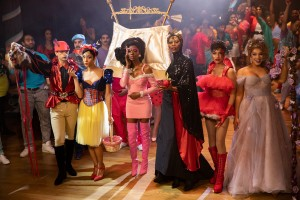 Jason A. Rodriguez, Mj Rodriguez, Angelica Ross, Dominique Jackson, Indya Moore, and Hailie Sahar in 'Pose'
