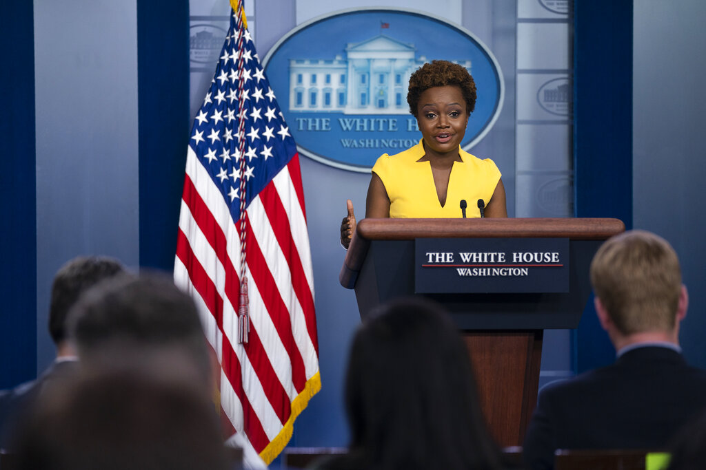 Karine Jean-Pierre Talks About Making History In The White House Briefing Room & How Being A Pundit, Even On Fox News, Prepared Her For This Moment