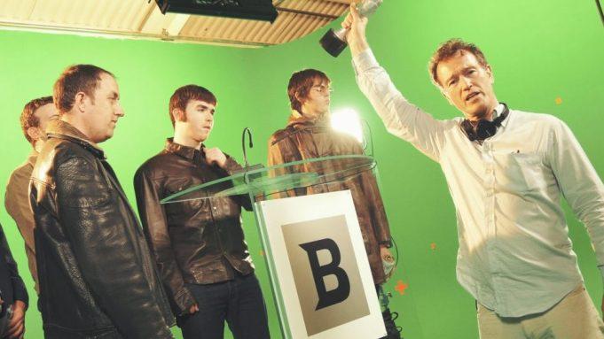 Director Nick Moran and actors in