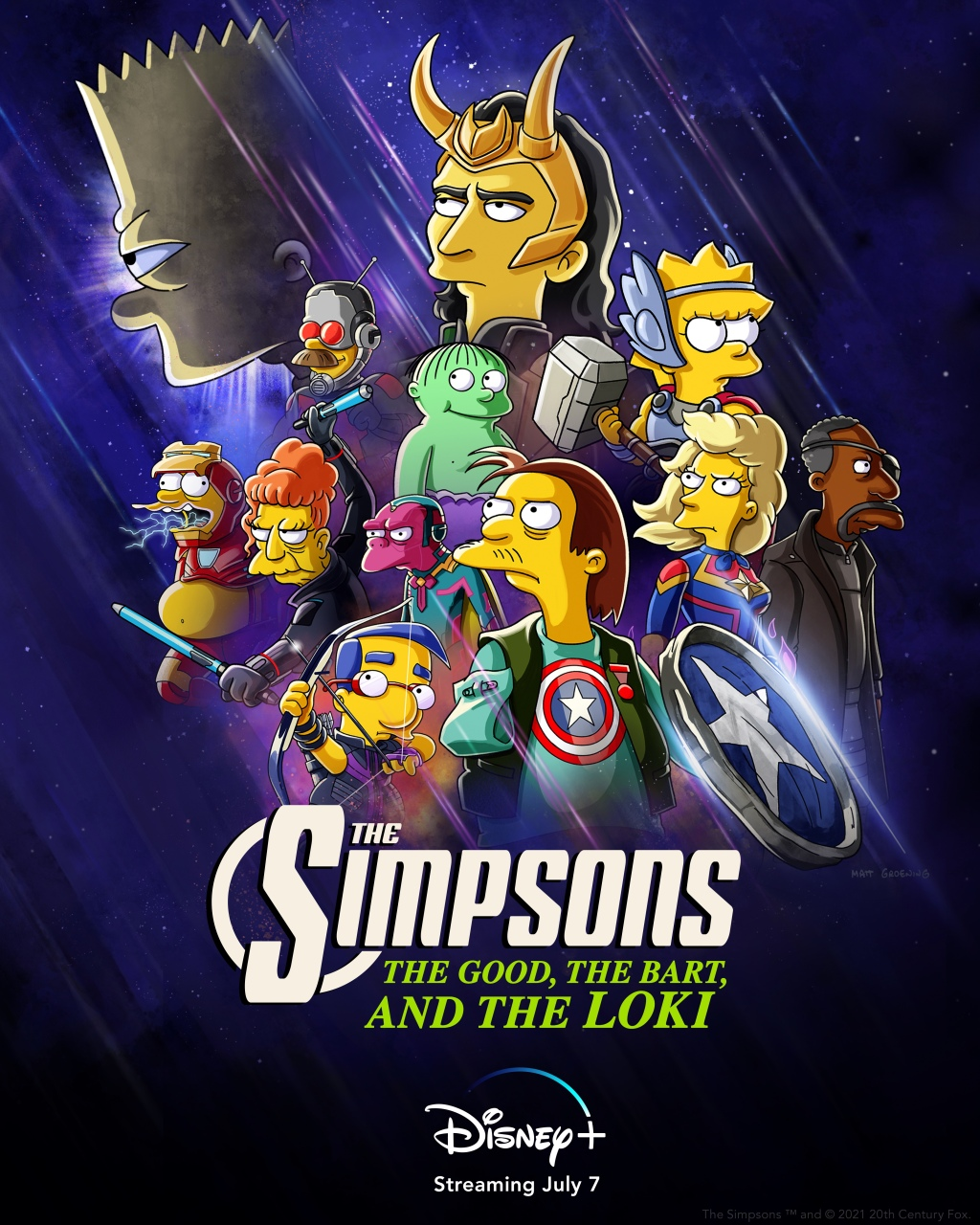 """'The Simpsons' poster for """"The Good, The Bart, and The Loki"""":"""