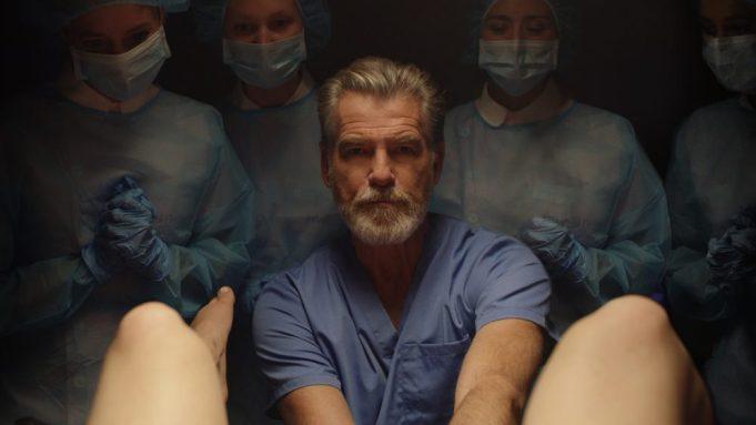 "Pierce Brosnan as ""Dr. Hindle"" in"
