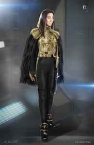 Costume Design sketch for Emperor Georgiou in 'Star Trek: Discovery'