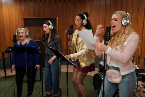 Paula Pell, Sara Bareilles, Renée Elise Goldsberry, and Busy Phillips in 'Girls5Eva'