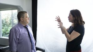 'I'll Be Gone in the Dark' Director/EP Liz Garbus with Patton Oswalt