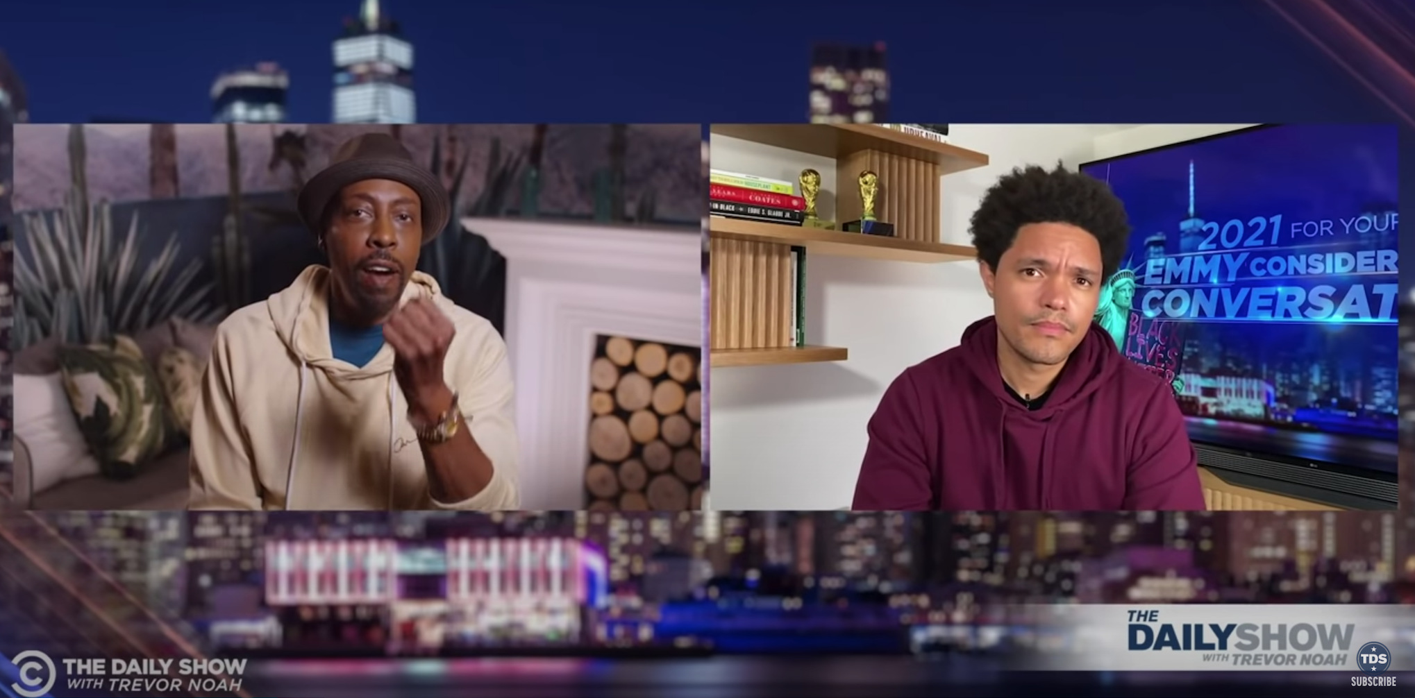"""Trevor Noah Teases He Has A """"Few Surprises"""" When 'The Daily Show' Returns To Studio During Conversation With Arsenio Hall"""