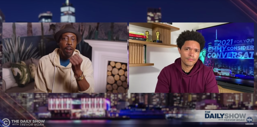 """Trevor Noah Teases He Has A """"Few Surprises"""" When 'The Daily Show' Returns To Studio During Conversation With Arsenio Hall.jpg"""