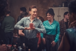 Olly Alexander and Lydia West in 'It's A Sin'