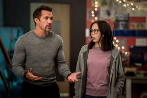 Rob McElhenney and Charlotte Nicdao in 'Mythic Quest'