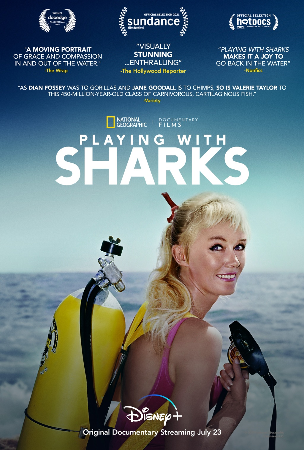 'Playing with Sharks' poster