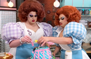 Selma Nilla and Lagoona Bloo in 'Nailed It! Double Trouble'
